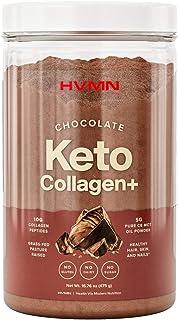 H.V.M.N. Keto Collagen+ Protein Powder: Collagen Supplement with Collagen Peptides & MCT Powder - Keto Diet Approved - 25 ...