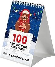 BAODAN Calendário de contagem regressiva de 100 dias, calendário de advento de Natal, calendário festivo de personagens 20...