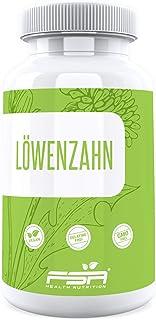 Löwenzahn 90 Kapseln, 600 mg pro Kapsel, Vegan - Made in Germany - FSA Nutrition