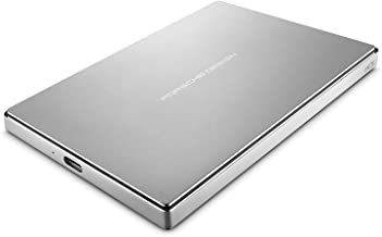 LaCie Porsche Design 2 TB USB-C + USB 3.0 Portable 2.5 inch External Hard Drive for PC Mac