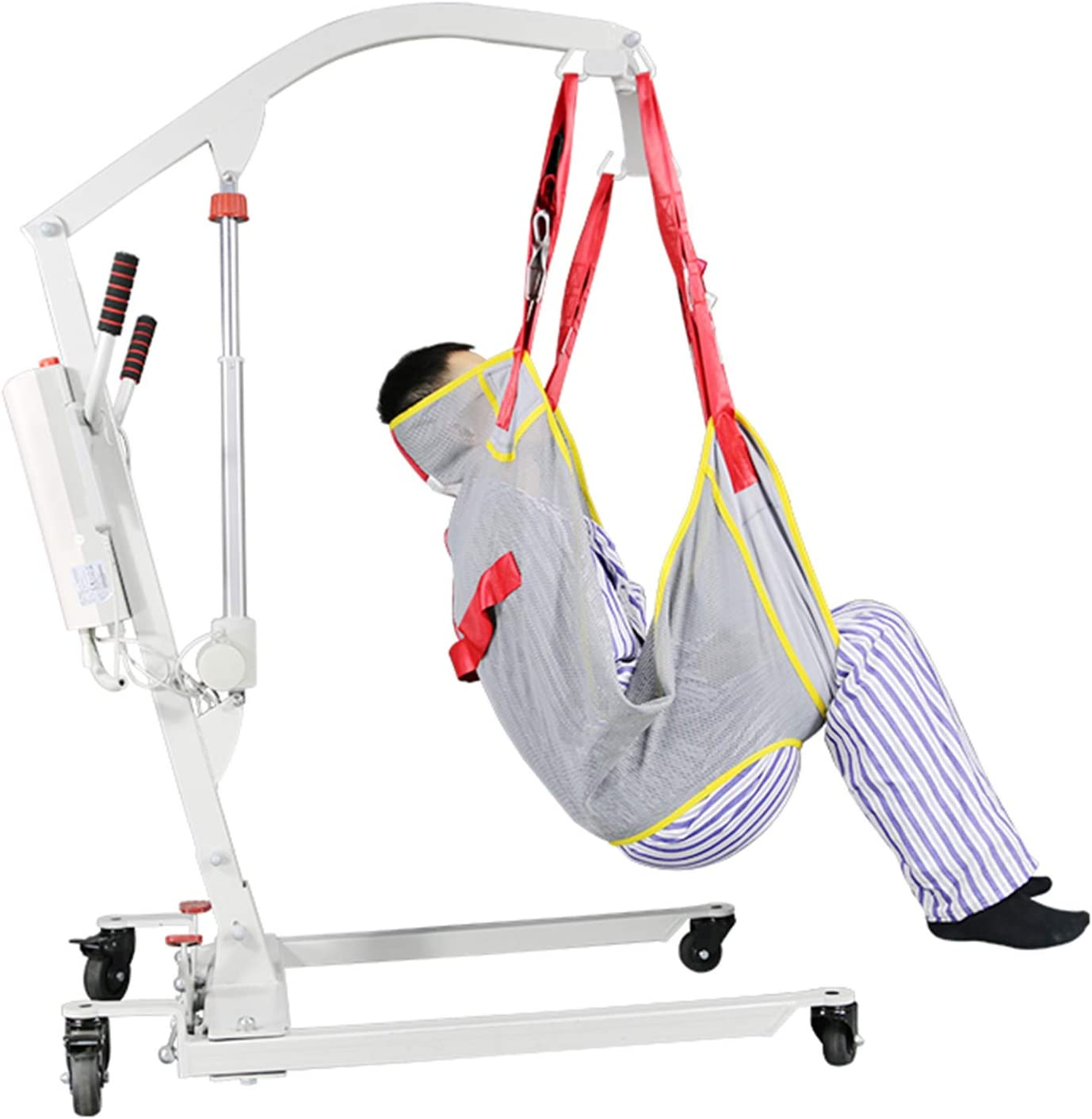 FC-Bed Potent Electric Patient Hoist Lift Medical Crane Lifting for Home Care with Sling, Assembling-Free, 400Lb Weight Capacity
