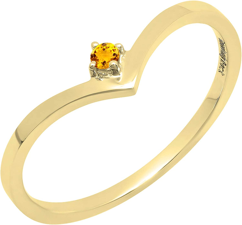 お買い得品 Dazzlingrock 最安値挑戦 Collection 14K Gemstone Bridal En Chevron Solitaire