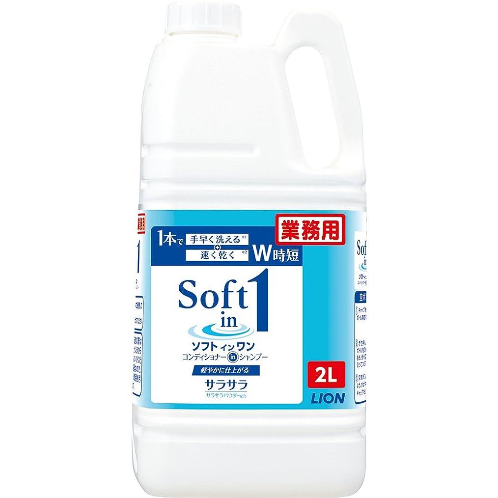 料理をするひまわり天皇【大容量】ソフトインワンシャンプー 2L