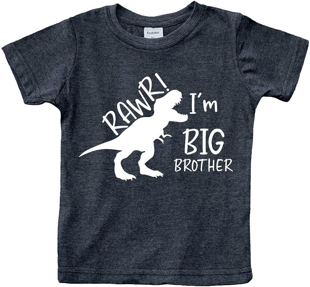 rawr im Big Brother Shirt Dinosaur Toddler boy Dino Announcement ouotfit Tshirt