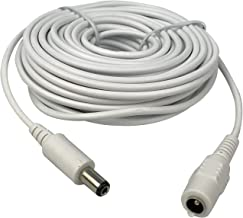 Vanxse CCTV Dc 12v Power Extension Cable 10m(30ft) 2.1x5.5mm for CCTV Security Cameras IP Camera Dvr Standalone in White Color-WPC10M
