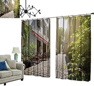 PRUNUS Fashion Window Curtain with hookalley at spittelberg Town Vienna Austria Radiation Protection,W84.3 xL84.3