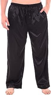 Alexander Del Rossa Men's Satin Pajama Pants, Long Pj Bottoms