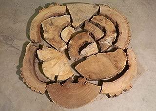 Live Edge Tree Slice Chunks/Coffee Table Epoxy/Wall Project T: 2 1/2'', W: 37'', L: 37'' - 10522