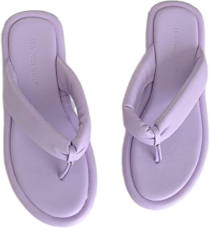 Woman Lightweight Violet Max 86% OFF Dressy Flip-Flops Max 80% OFF Flat Sandals Platform