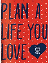 TF Publishing 19-4040A July 2018 - June 2019 Plan the Life You Love Monthly Planner, 7.5 x 10.25