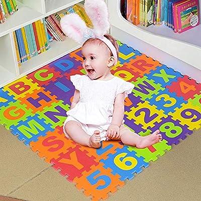 US Fast Shipment Kids Foam Puzzle Play Mat (36-...