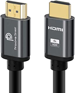 4K HDMI Cable 2M/6.6Feet, Proxima Direct HDMI Cable 2.0a/b High Speed HDR Ultra Full HD 4K@60Hz 4096*2160 Aluminium Alloy ...