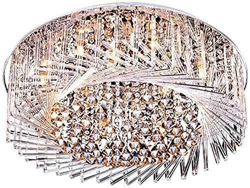 Luminarias, 212, Luces de araña de cristal Swirl Crystal Vidrio Flush Monte Light Light Thifture Modern Shelling cerca de la luz del techo para la sala de estar del dormitorio 23.5'de ancho E27 / 20