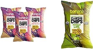 Barnana Organic Plantain Chips - Himalayan Pink Salt- 5 Ounce, 3 Pack & Organic Plantain Chips - Acapulco Lime - 5 Ounce -...