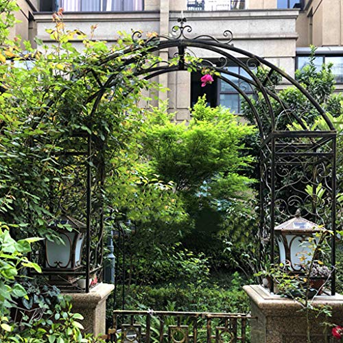 YICOL Heavy Duty Metal Arch Classical Rose Archway for Gate Pillar/Garden Entry,Support Customized Size