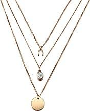 dream-boy-kkk New Multilayer Crystal Moon Necklaces & Pendants for Women Vintage Charm Gold Choker Necklace