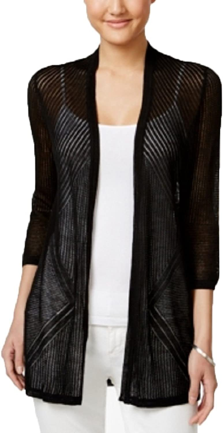 Charter Club Petite OpenFront Pointelle Cardigan