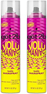 Got 2B Volumaniac Hairspray 9.1 Ounce (269ml) (2 Pack)