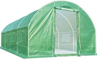 Quictent Upgrade 20 x10 x7 feet 2 Zipper Mesh Doors Portable Greenhouse Large Heavy Duty Walk-in Green Garden Hot House 10...