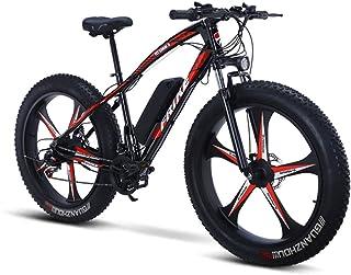 26 * 4.0インチホイールセット電動山26インチ350W電動自転車36V10Ah取り外し可能なリチウム電池21ペース約30km / h最大35-50kmの電気走行距離。仕事、学校、旅行に適しています。(Color:一体型のホイール)