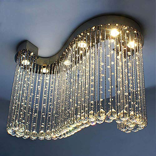 boaber Restaurant Chandelier Hanging Line Lamp Led S-original Crystal Lamp Bedroom Living Room With Ceiling Chandelier Bar 800 * 300 * 600mm