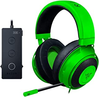 Razer Kraken Tournament Edition THX 7.1 Surround Sound Gaming Headset: Aluminum Frame - Retractable Noise Cancelling Mic - USB DAC Included - for PC, Xbox, PS4, Nintendo Switch - Green