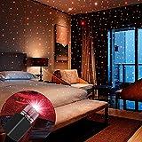 USB Night Light, BAILONGJU Star Projector Night Light, Interior Car Lights, Bending Freely Portable Night Light Atmospheres Decoration for Car, Ceiling, Bedroom, Party