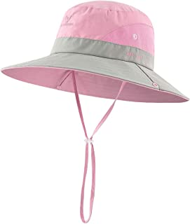 BonjourMrsMr Kids Wide Brim Sun Hat Bucket Quick-Drying Hat Toddler UPF 50+(3T-7T)