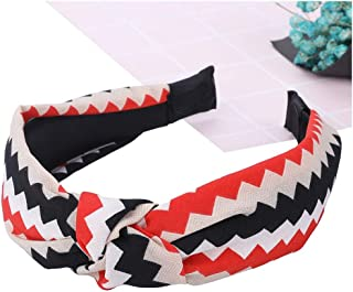 Top Knot Turban Headband 40's Vintage Style Elastic Hairband No Slip Stay on Knotted Head band Women,C