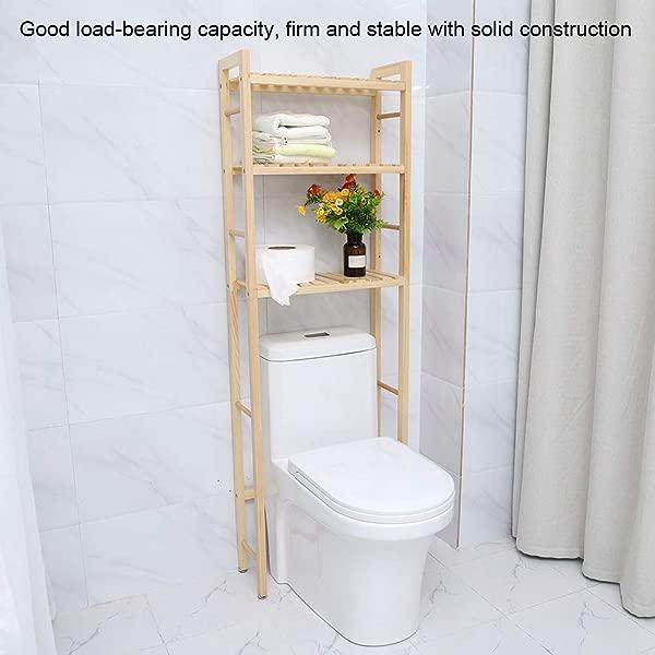 3 个架子浴室组织者在卫生间木头浴室节省空间 60 63英寸高