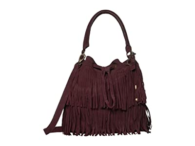 FRYE AND CO. Phoebe Bucket Bag (Wine) Handbags