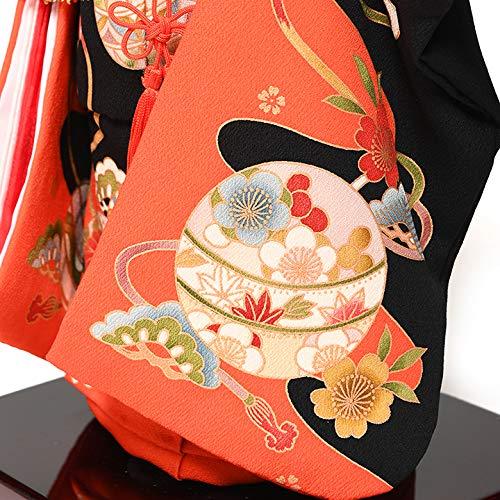 人形の伏見屋『12号市松:正絹別染手鞠に菊柄衣装:元賀章介作』