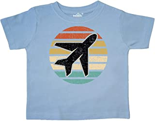 Airplane Pilot Vintage Sunset Toddler T-Shirt