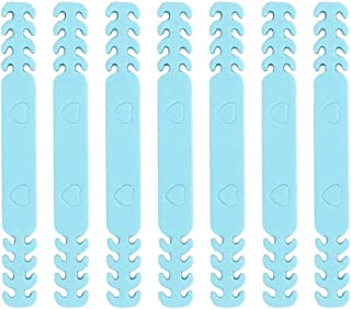 TOYANDONA 20pcs Face Cover Ear Extenders Mouth Cover Ear Loops Extension Rope Hooks Buckles Ear Protection Adjusters for Face Mouth Cover Wearing (Blue)