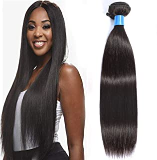 Cranberry Hair Brazilian Straight Hair One Bundle Virgin Straight Human Hair Brazilian Hair 100g Natural Black Color for Women(26 Inches)