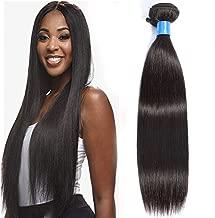 Cranberry Hair Virgin Brazilian Natural Straight Human Hair Weave Extension Unprocessed 22 Inch 1 Pack Bundle - Black