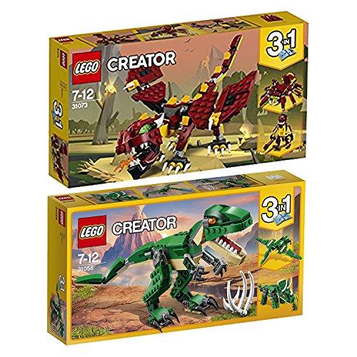Lego Creator 3-in-1 2er Set 31058 31073 Dinosaurier + Fabelwesen