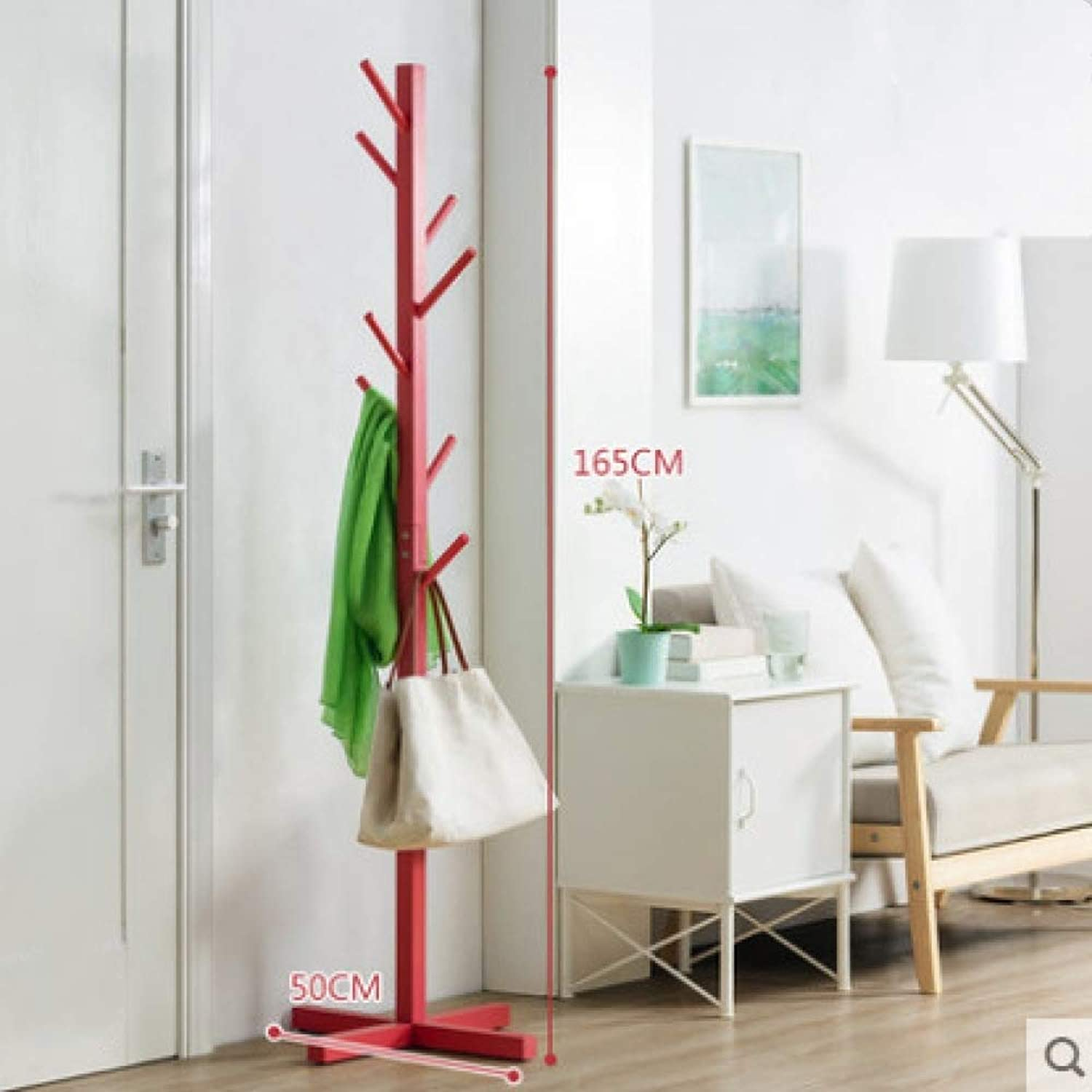 Dixinla Coat Stand,Nordic Simple Solid Wood Coat Rack greenical Living Room Bedroom Hanger Decorative Furniture