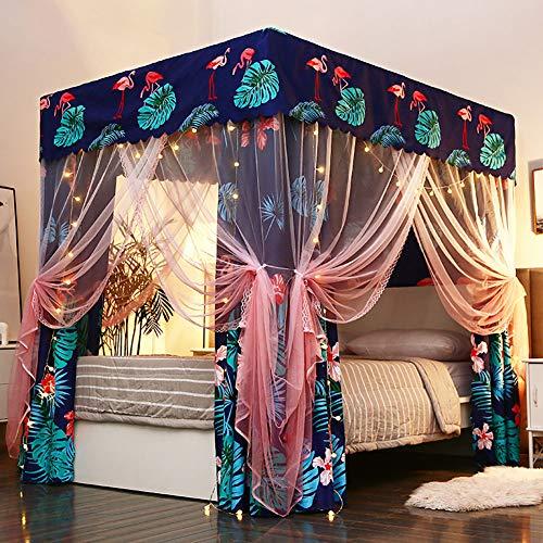LINLIN prinses muggennet dubbel stofdicht schaduwdoek bedhemel kant zijnet tent 360 ° ongediertebestrijding binnendecoratie hoogte 195 cm