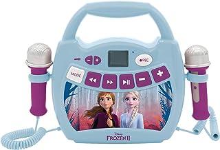 Lexibook- Disney La Reine des Neiges 2 Elsa, Anna-Mon Premier Lecteur Musical avec micros, sans Fil, Fonctions Enregistrem...