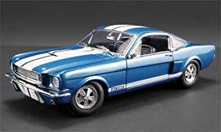 New DIECAST Toys CAR Acme 1:18 1966 Shelby GT350 Supercharged (Blue with White Stripes) A1801834