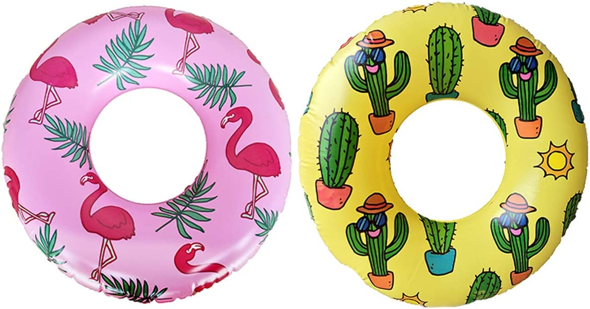 Inflatable Pool Some reservation Tubes for Kids Toddl Ring Flamingo Swimming Save money
