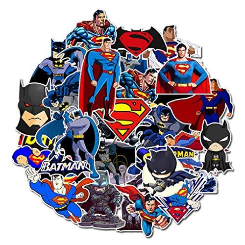⭐Top Aufkleber! ⭐ Set von 45 Kleine Superman und Batman Aufkleber - Comics Qualität - Vinyls Stickers Nicht Vulgär – Bomb, Superhelden, Superheld, Marvel - Anpassung, Scrapbooking, Bullet Journal