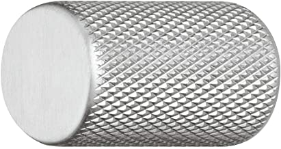 Gedotec Meubelgreep roestvrijstalen look mat - aluminium meubelknop vintage kastknop geribbeld - KING   deurgreep meubel-k...