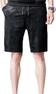Men's Drawstring Waist Knee Length Pull-On Plaid Beach Short