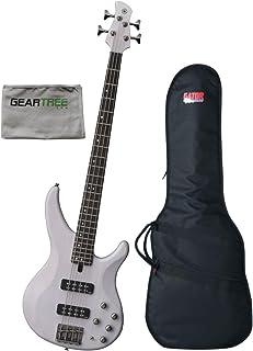 $499 Get Yamaha TRBX504 TWH Translucent White 4 String Bass Guitar w/Polish Cloth and Gi
