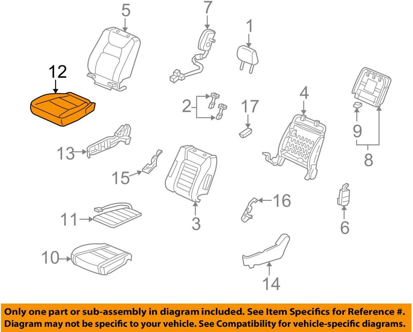 Honda Genuine 81131-SJC-L31ZA Elegant 2021new shipping free Seat Cushion Cover Trim Right Fr