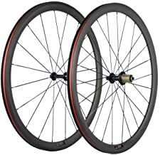 SunRise Bike 1 Pair of Road Bike Carbon 700C Clincher Wheelset Super Light Bicycle Wheels 38mm Depth
