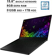 2019 Razer Blade 15.6 Inch FHD 1080P Gaming Laptop, Intel 6-Core i7-8750H up to 4.1 GHz, NVIDIA GeForce GTX 1060, 8GB DDR4 RAM, 512GB SSD (Boot) + 1TB HDD, HDMI, Bluetooth, WiFi, Windows 10 Home