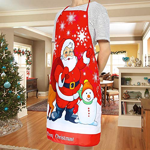 LONTG Christmas Aprons for Men Women Adult Christmas Santa ClausApron Cartoon Kitchen Aprons for Xmas Party Chef Cooking Restaurant Baking BBQ Home Kitchen Cooking Christmas Dinner Party Supplies